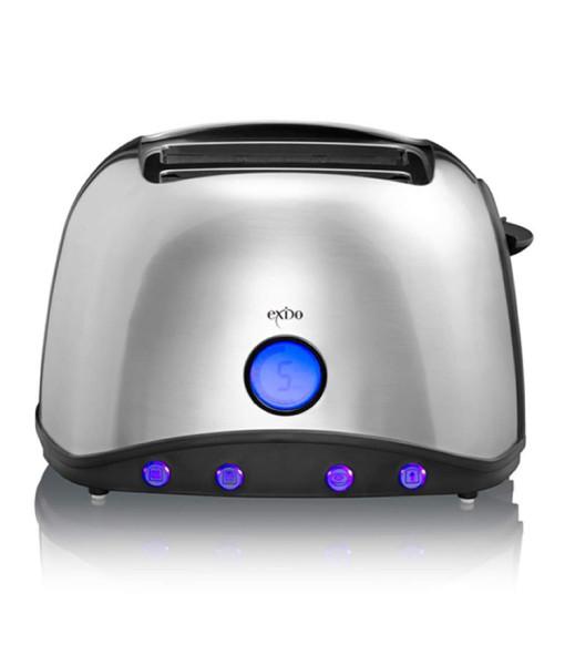 edelstahl design toaster mit digital display techno design. Black Bedroom Furniture Sets. Home Design Ideas
