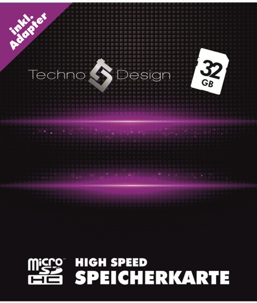 micro sd speicherkarte 32 gb high speed techno design. Black Bedroom Furniture Sets. Home Design Ideas